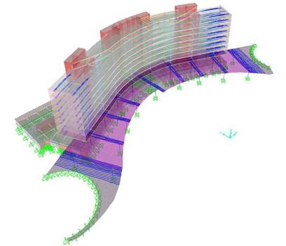 Modelo de cálculo tridimensional da Biblioteca