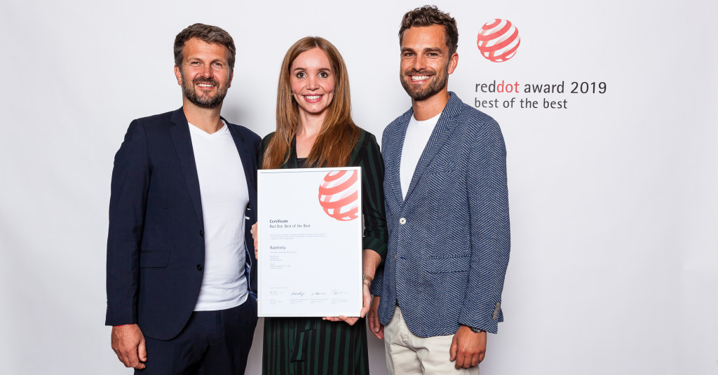 hansgrohe Rainfinity recibe el Red Dot Award