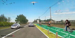 Estrada-simulação