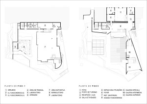 plantas. piso -1 e piso 0