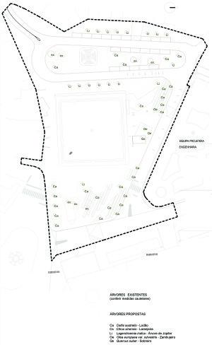 1.7 Plano de lantação. Árvores (1-500 A3)