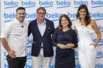 Chef Filipe Carvalho, Cem Baçaral, CEO Beko Portugal, Sofia Parapluie, Andreia Rodrigues