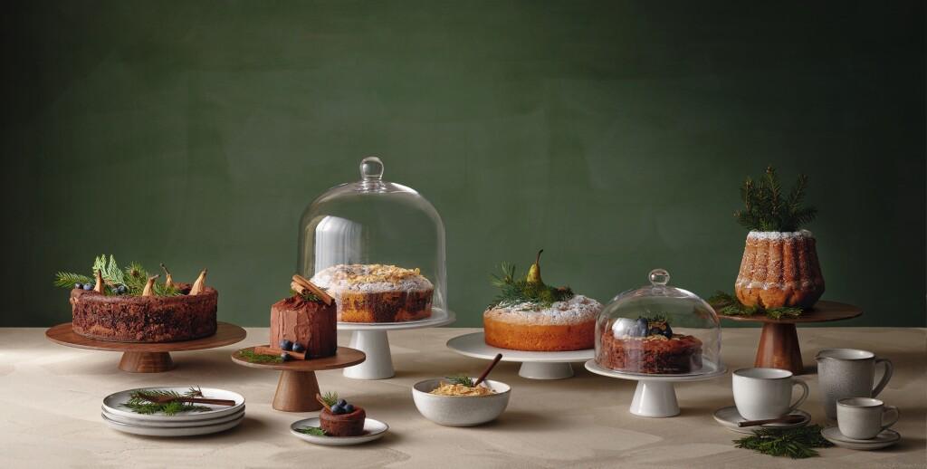 Tortenplatten-Glasglocken-Wood-Saisons